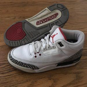 "Nike Air Jordan III 3 Retro ""White Cement"" 2011 5Y"